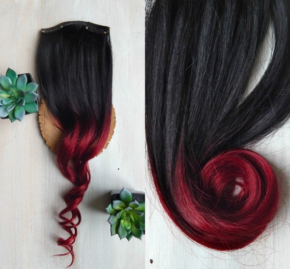 Brown Red Ombre Hair Extensions 160 Grams Full Set Of Hair Extensions Red Extensions Dark Brown Black Extensions Remy Hair Extensions