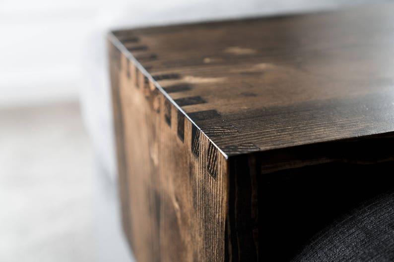 Holz ottoman tablett tisch custom holz tisch holz etsy