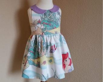 Little Mermaid Dress. Ariel Dress. Party Dress. The Little Mermaid dress. Girls mermaid dress. Toddler dress. Birthday dress. Disneybound