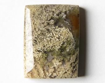 Stone Cabochon Natural Gemstone Cabochon Rectangle Moss Agate Stone Moss Agate Cabochon Rectangle Agate Cabochon 27 x 23 x 5 mm