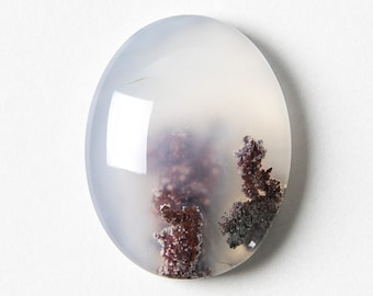 Moss Agate Cabochon Oval Cabochon Stone Cabochon Natural Gemstone Cabochon Moss Agate Stone Oval Agate 26 x 17 x 6 mm