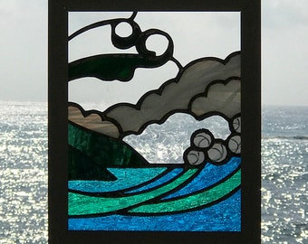 Island Stained Glass Window