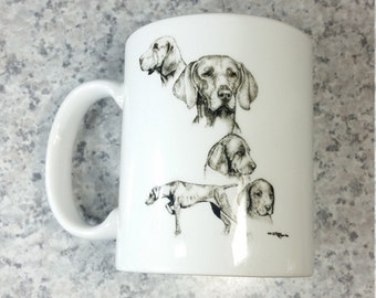 Laura Rogers Greyhound Sketches illustration vintage printed tee dogs pet T-shirt White Size XXL