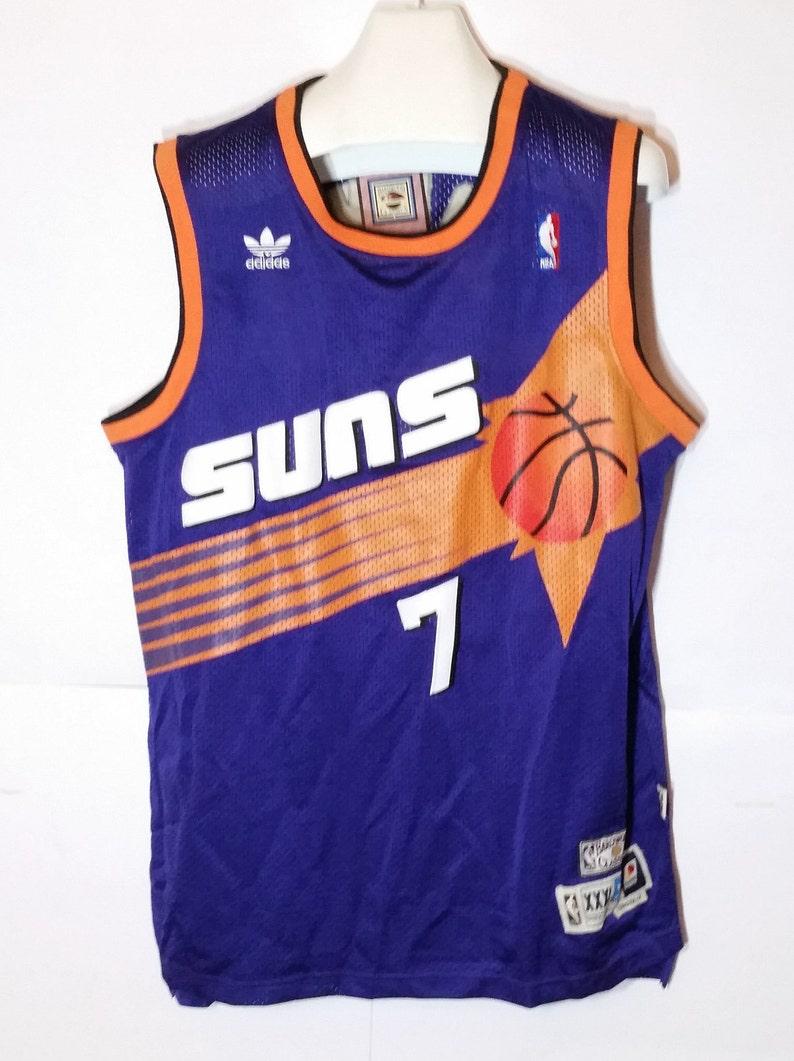 new arrival ecc62 17aee NWT Adidas Hardwood Classics Kevin Johnson #7 Jersey Phoenix Suns NBA  All-Star Retro Throwback Authentic Original New Purple XXXL +2 Length