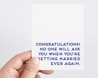 Funny Wedding Card | Getting Married Card | Funny Engagement Card | Congrats Wedding Card | Newlywed Gift Ideas
