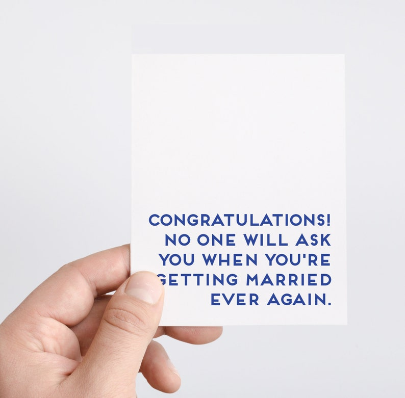 Funny Wedding Card  Getting Married Card  Funny Engagement image 0