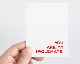 You Are My Swolemate   Bodybuilding Card   Anniversary Card for Boyfriend   Lifting Card   Crossfit Gift