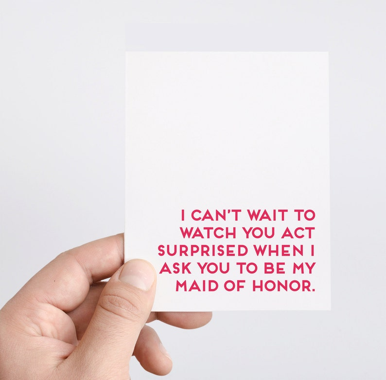 Maid of Honor Proposal  Bridal Party  Will You Be My Maid of image 0