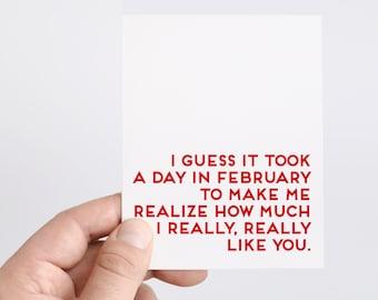 Boyfriend I Like You Card   Funny Valentines Day Card   Boyfriend Valentines Day Gift   Anti-Valentines Day Card   Snarky Card