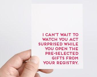 Bridal Shower Card   Funny Wedding Card   Bridal Shower Gift   Wedding Shower Cards   Gift For Bride   Bridal Shower Games