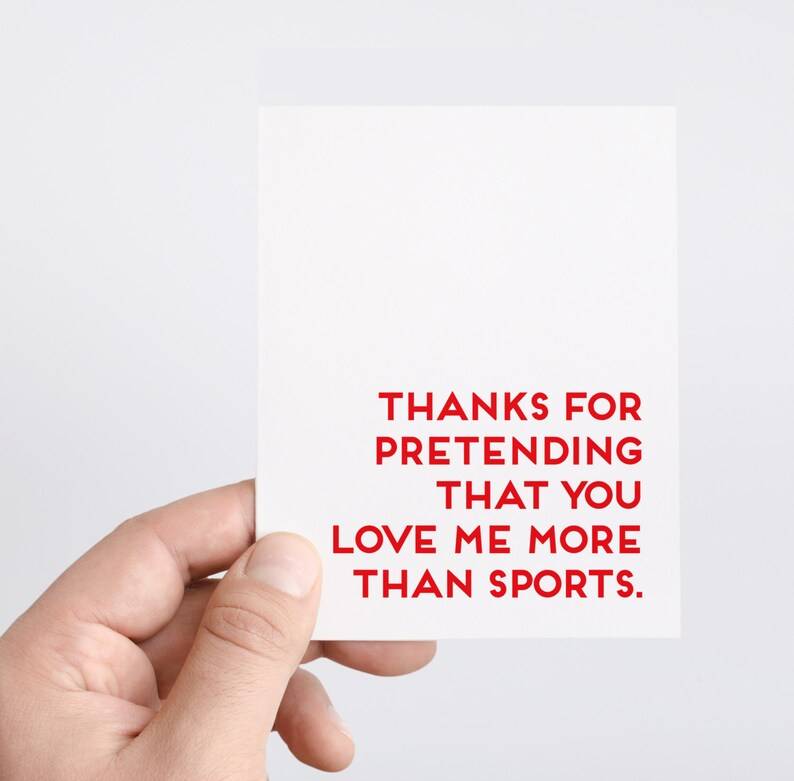Boyfriend Anniversary Card  Sports Lover Gift  Funny image 0