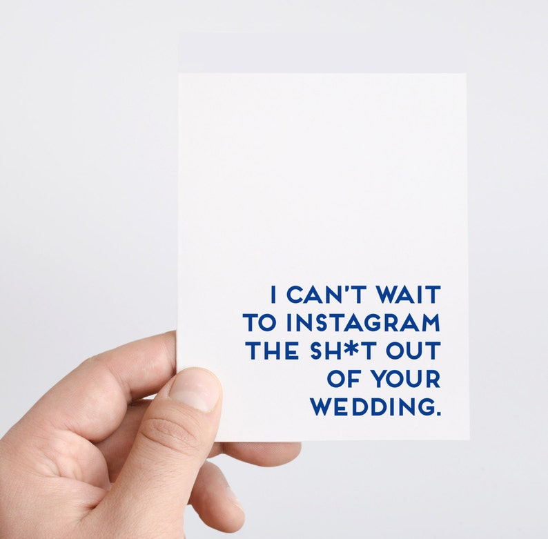 Funny Wedding Card  Instagram  Wedding Hashtag  Funny image 0