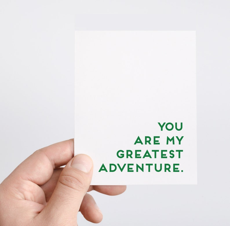 Love Card  You Are My Greatest Adventure  Anniversary Card  image 0