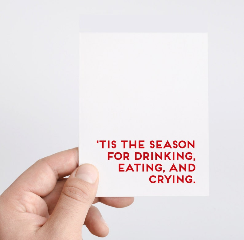 Funny Holiday Drinking Card  Tis the Season For Drinking image 0