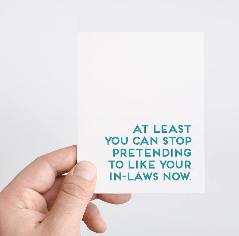 Divorce Card  Funny Divorce Card  Break Up Gift  Mother In image 0