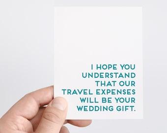 Funny Wedding Card   Destination Wedding   Wedding Gift   Funny Engagement Card   Beach Wedding   Tropical Wedding   Unique Wedding Gift