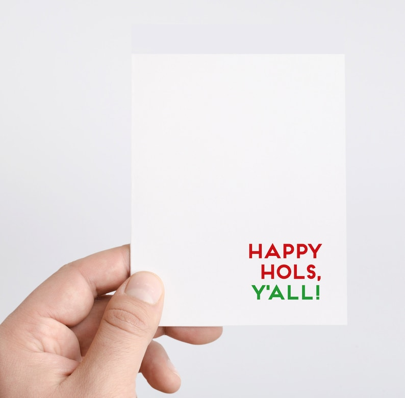 Happy Hols Y'all  Southern Christmas Cards  Holiday Gift image 0