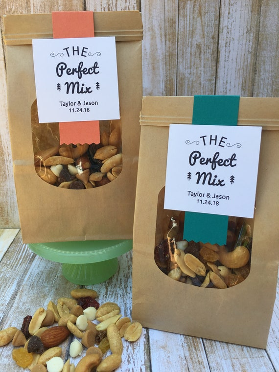 12 Wedding favor bags Trail Mix favors Coffee bag favors | Etsy