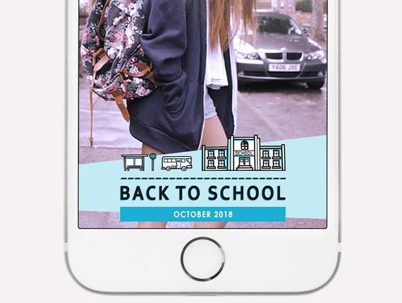 INSTANT DOWNLOAD Snapchat Geofilter First Day of School Snapchat Filter Back to School Geofilter Kindergarten Pre-k Elementary Templett