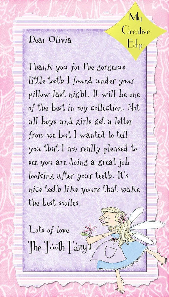 Tooth Fairy Letters and Certificates   Etsy