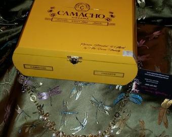 Camacho yellow sundress cigar box purse