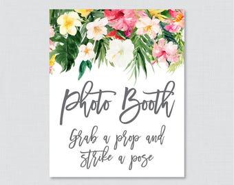 Tropical Don't Say Bride Printable Sign Hawaiian Flower | Etsy