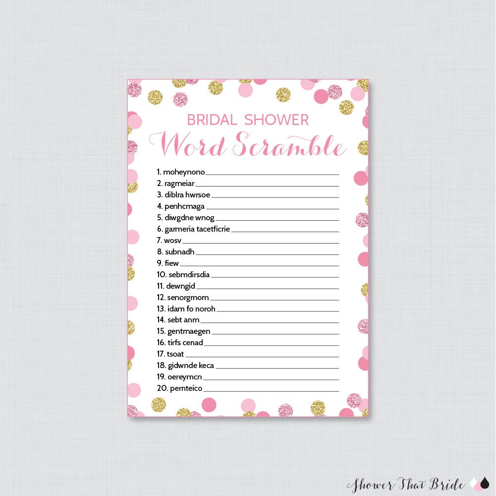 It's just a picture of Smart Free Printable Bridal Shower Games Word Scramble
