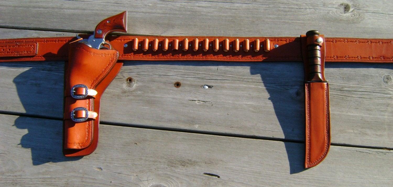 Holster and Gunbelt - Ruger Super Redhawk  454 Casull and  45 cal