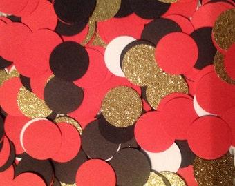 Confetti Red Black Gold