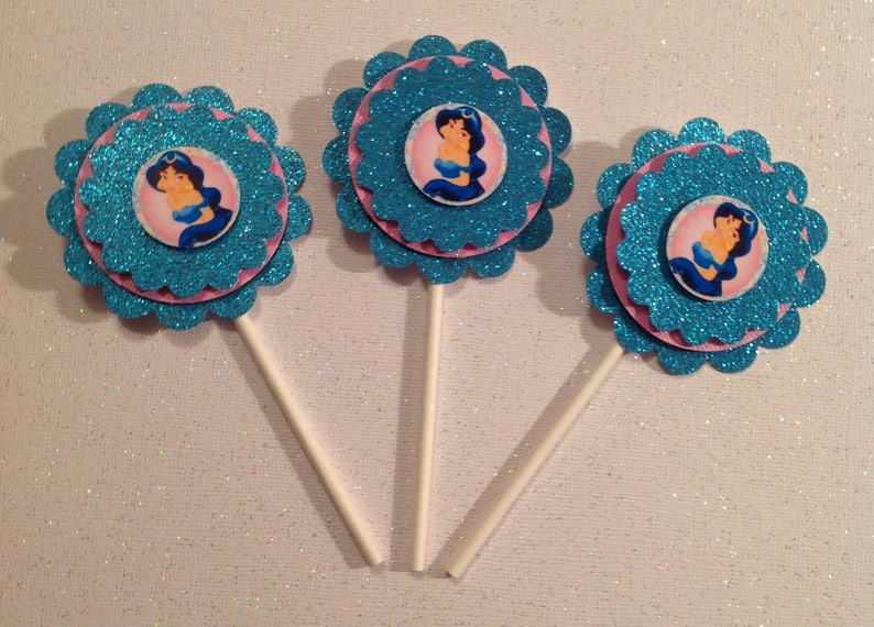 Disney Jasmine Cupcake Toppers Jasmine Party Supplies Etsy