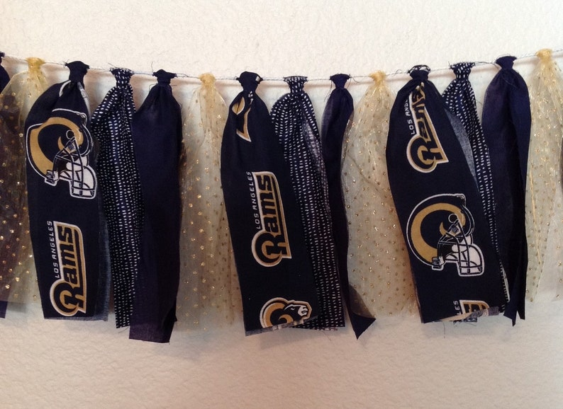 Los Angeles Rams Fabric Banner 5 Ft LA Rams Rams Banner