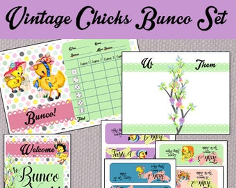 Vintage Chicks Bunco Set