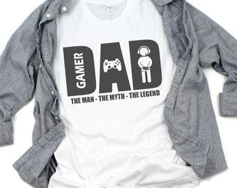 c81a4bac Gamer Dad Shirt, Dad Gamer T Shirt, Father Tshirt, Gamer Dad T Shirt, Dad T- Shirt, Dad Birthday Shirt, Gamer DAD TShirt, Video Game Dad Gift
