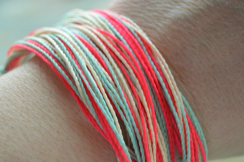 Waterproof String Friendship Bracelet For Stacking Handmade Colorful Bracelet Stocking Stuffer Gift Maryland Pride Jewelry