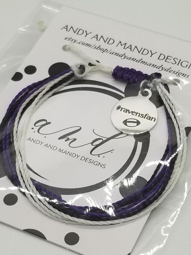 Waxed Cord Bracelet Friendship Bracelet Raven/'s Charm Bracelet #ravensfan Cord Bracelet Waterproof Bracelet Surf Style Bracelet