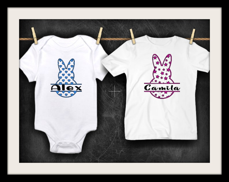 d1ab9524 Toddler Bunny Easter T-Shirt Baby Easter Tshirt Sister | Etsy