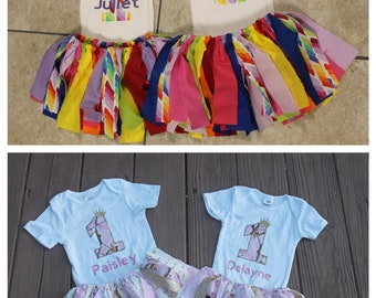 Twins First Birthday Outfit Girl 1st Party