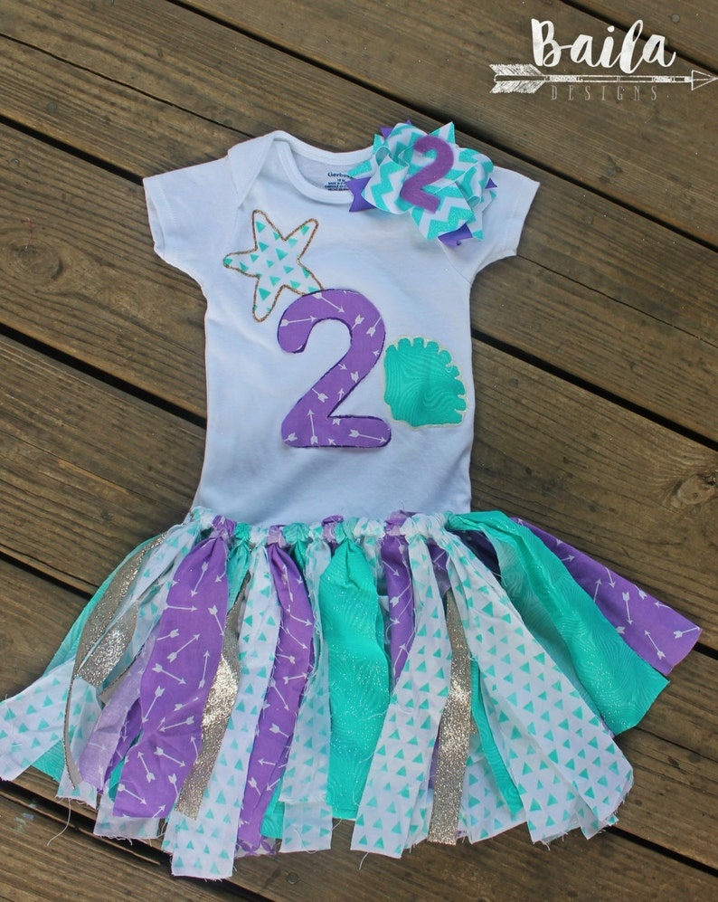 fd7d0481548c6 2nd birthday outfit girl second birthday outfit mermaid | Etsy