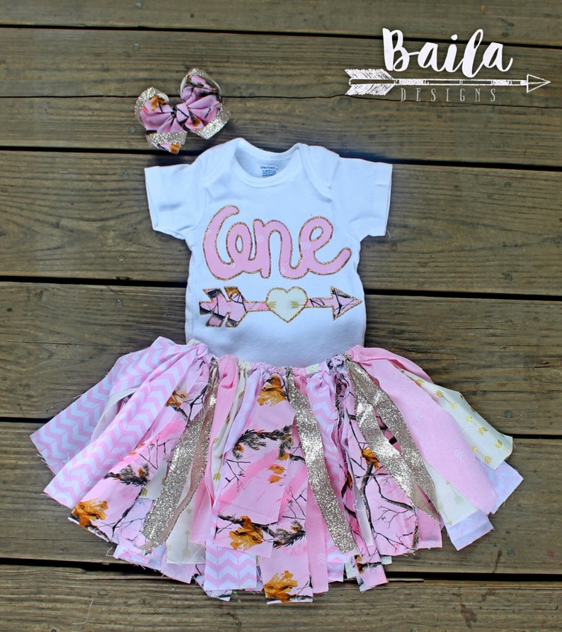 First Birthday Outfit Girl 1st Pink