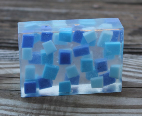 Decorative Soaps For Bathroom.Mosaic Soap Blue Soap Frozen Soap Beach Soap Decorative Soaps Soap For Kids Bathroom Decor Housewarming Gift Glycerin Soap Handmade