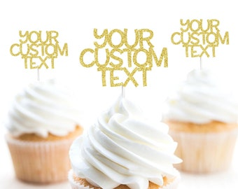 a84794c4a6f Custom Cupcake Toppers