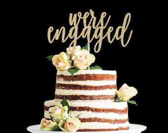 Engagement Cake Topper Etsy
