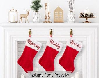 christmas stocking etsy