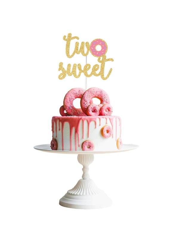 Outstanding Two Sweet Cake Topper Donut Cake Topper Donut Grow Up Cake Etsy Personalised Birthday Cards Xaembasilily Jamesorg