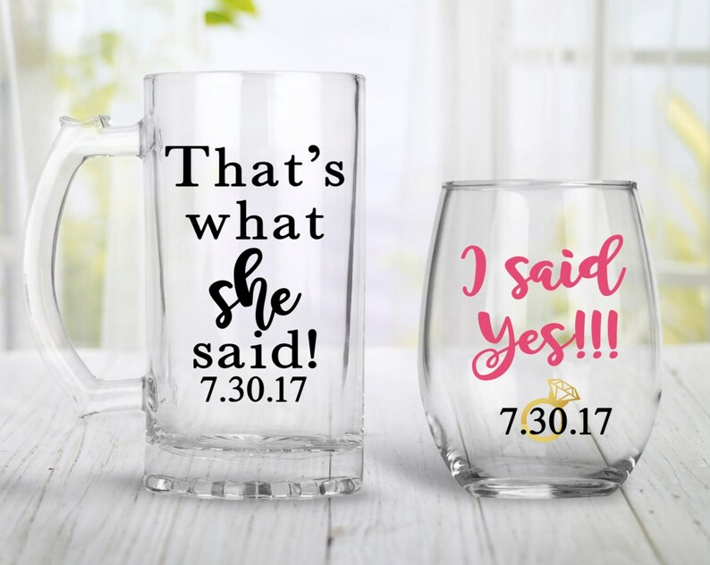 8acadb4e6 Engagement Gift For Couples Engagement Wine Glass