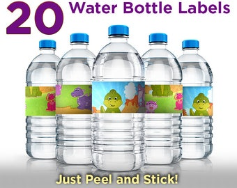 Dinosaur Birthday Party Water Bottle Labels – 20 Water Bottle Stickers - Dinosaur Birthday Decorations - Party Favor - Party Decor - 12576