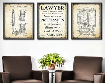 Delicieux Lawyer Office Decor   SET OF 3   Lawyer Office Art Print   Lawyer Art Gift    Lawyer Gifts   Office Wall Decor   Gift For Lawyer   1914
