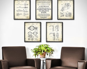 Delicieux Doctors Office Decor SET OF 5   Anesthesiologist Gift   Nurse Anesthetist    Medical Art   Wall Art   Gift For Doctor   Gift For Nurse   1890