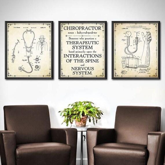Chiropractor Art Print SET OF 3 Chiropractor Poster | Etsy