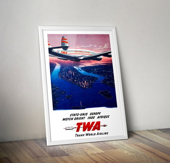 "TWA Airline 8.5/"" X 11/""  Travel Poster FLORIDA"
